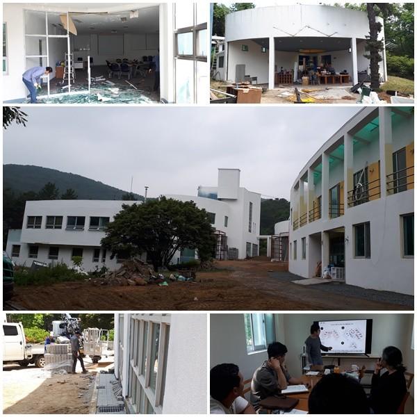 옛 아힘나평화학교 校舍, 기숙사, 식당 등 모든 건물의 보수공사가 6월부터 7월까지 진행되고 있다.